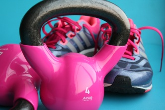 kettlebell-and-tennis-shoes